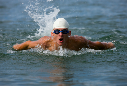 Triathalon swimmer.